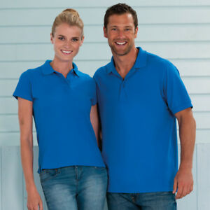 Russell-Ultimate-clasicos-de-algodon-para-hombre-de-manga-corta-Polo-Camiseta-J577M-ropa-de-trabajo