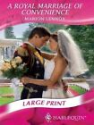 a Royal Marriage of Convenience Book Marion Lennox HB 0263200620 BTR
