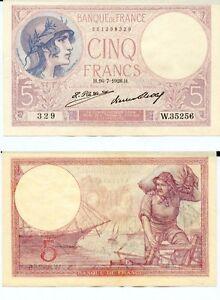 5 Francs ( Violet ) Du 16-7-1928 W.35256 Numéro 881399329 Vax93ghd-08011931-222706090