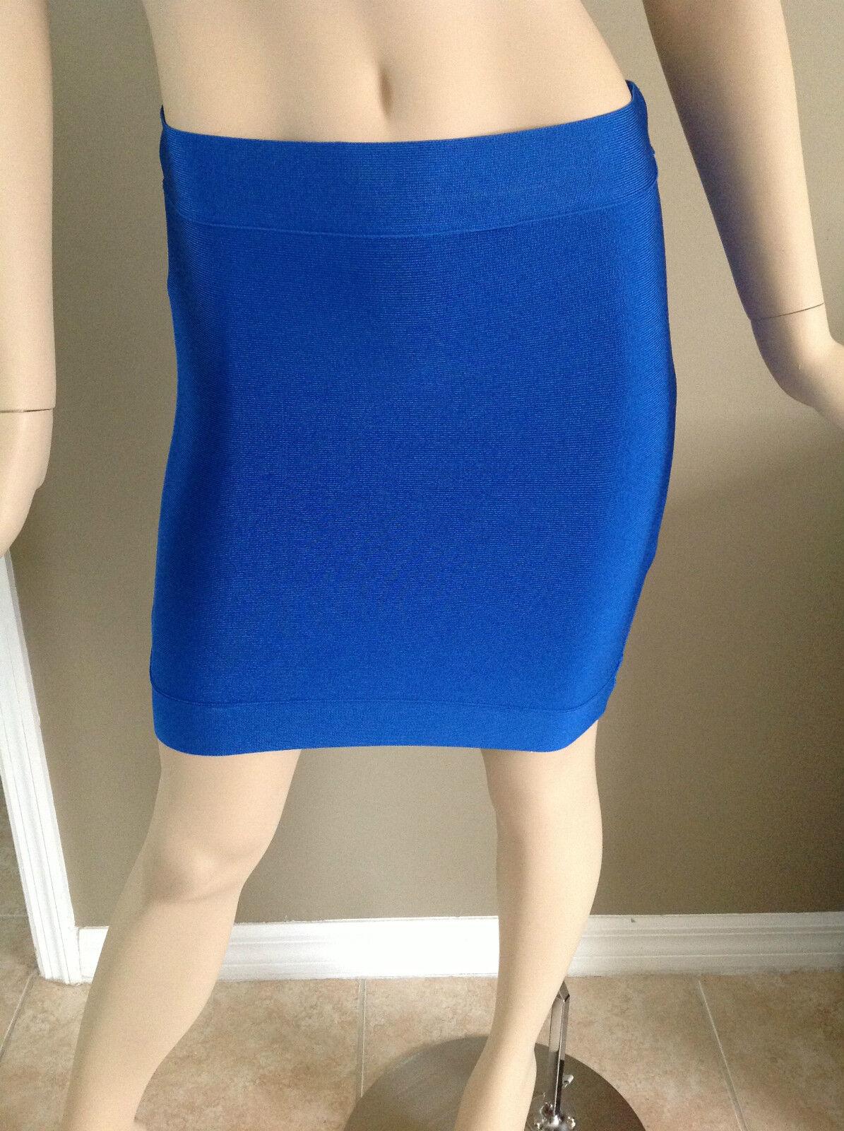 Bcbgmaxazria Power Stretch Mini Skirt Larkspur bluee Size S