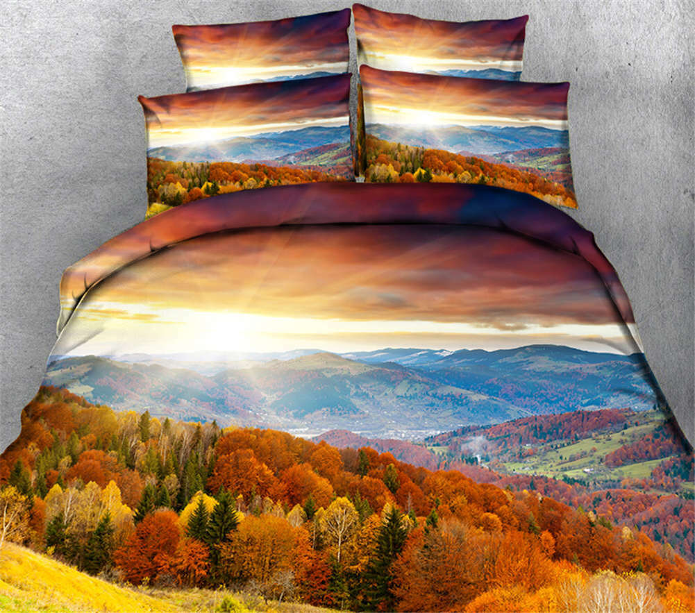 Billowing Wheat 3D Printing Duvet Quilt Doona Covers Pillow Case Bedding Sets