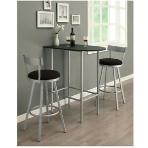 Details about Counter Height Table Only Small Apartment Furniture Space  Saver Dorm Bar Side