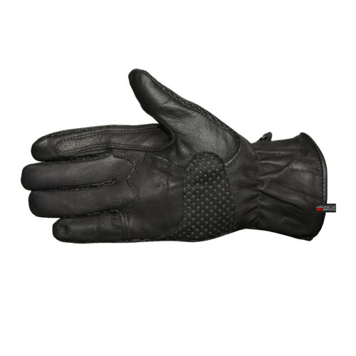 Men/'s Motorcycle Light Mesh and Leather Biker Black On-Road Racing Gloves