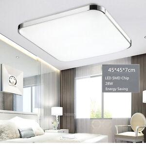 modern bedroom square led ceiling light 28w living room