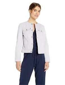 Levi's Women's Collarless Cotton Trucker Jacket, Thistle,, Thistle, Size X-Large