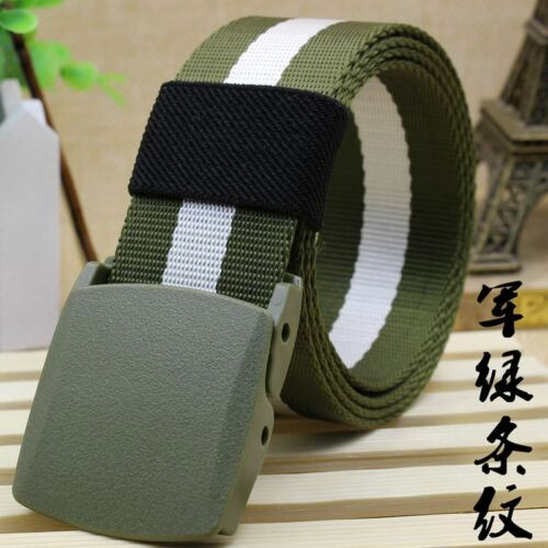 Men/'s Outdoor Sports Military Tactical Nylon Waistband Canvas Web Belt Dazzling
