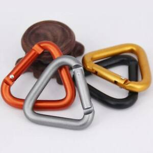 Triangle Carabiner Outdoor Camping Hiking Keychain Kettle Buckle Snap Clip RHv$