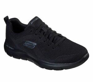 Skechers-Men-039-s-Memory-Foam-Black-Shoes-Mesh-Sport-Athletic-Comfort-Casual-232057