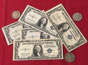 1-1935-1-00-Silver-Certificate-amp-2-90-Silver-Half-Dollars