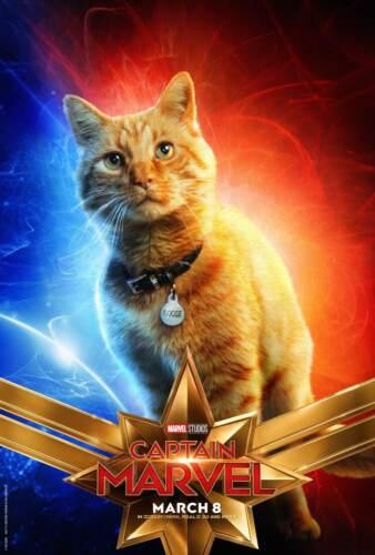 Art Poster Captain Marvel Movie 2019 Hot Marvel Cat Poster 48 24x36 20x30 D257