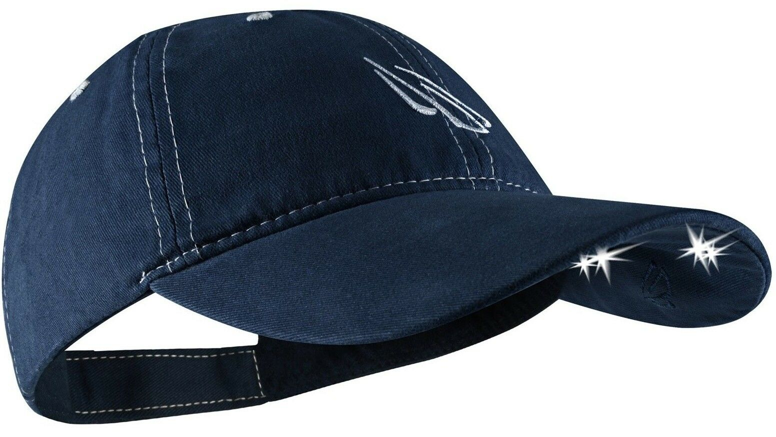 Panther Vision 4-LED POWER CAP 100% Brushed & Washed Cotton Twill NAVY