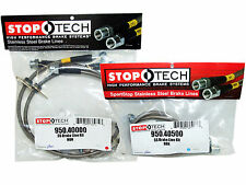Stoptech Stainless Steel Braided Brake Lines (Front & Rear Set / 40000+40500)