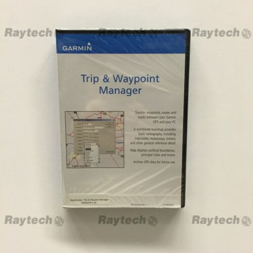 Garmin Mapsource Trip and Waypoint Manager CD V5.00 010-10215-04