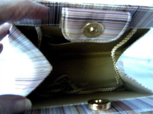 Elegant Gold Abendtasche Pink Stoffstreifen amp; ggqYUZ