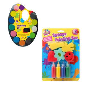 Kids-Water-Colour-Paint-Sponge-Painting-Set-Children-Craft-Paint-Non-Toxic-3