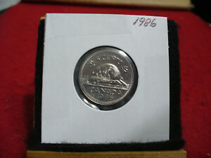 1986  CANADA  1  NICKEL 5 CENTS  COIN  PROOF LIKE SEALED  86   HIGH  GRADE