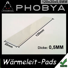 [Phobya™] 0,5MM Wärmeleitpad XT 120x20mm → 7W/mk CPU GPU RAM ThermalPad