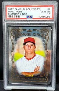 2012 Diamond Kings Angels RC Star MIKE TROUT Rookie Card PSA 10 GEM MINT Pop 14