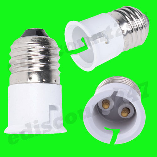 2x HIGH QUALITY BC B22 B15 ES E27 E14 E12 E40 GU10 G9 G24 MR16 Adaptor UK SELLER
