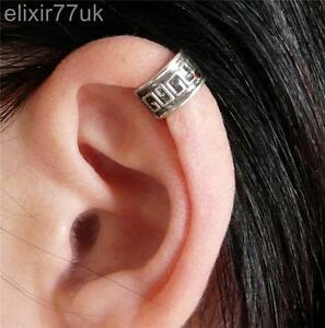 silver plated aztec cartilage upper helix ear cuff clip on. Black Bedroom Furniture Sets. Home Design Ideas