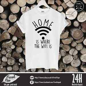 home is where the wi fi is t shirt gamer tumbrl geek internet dope