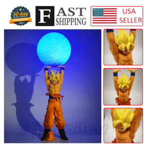 14'' Anime Dragon Ball Z Super Saiyan SON GOKU Genki Spirit/Bomb Figure&DIY Lamp