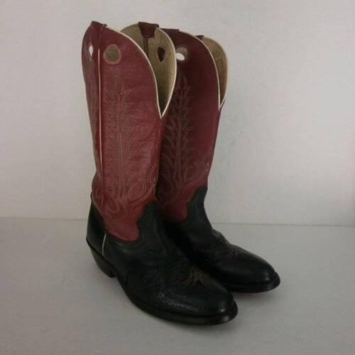 cowboy donna rossa western nera Stivali in pelle da Lama in giovent Tony pelle U4q6Y6