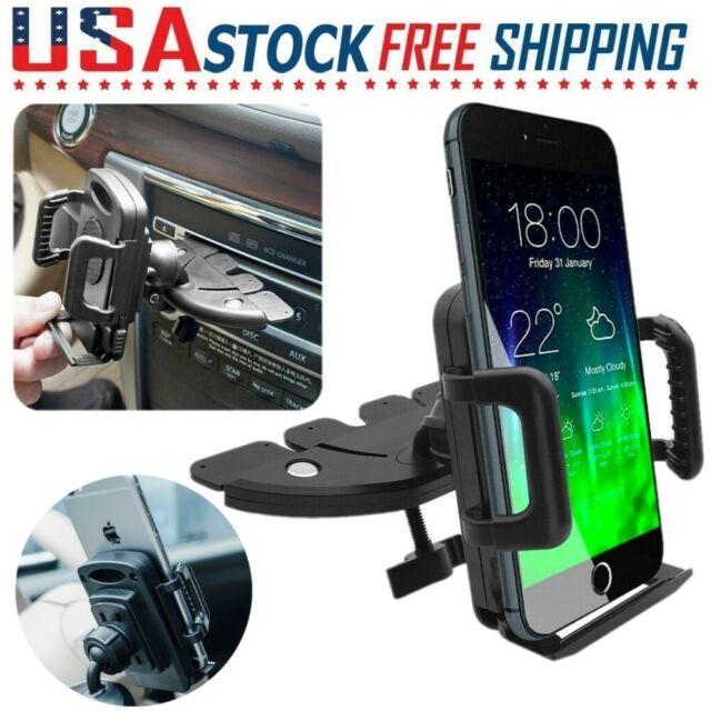Car Holder CD Slot Mount Bracket For Mobile Cell Phone iPhone 7 8 Samsung GPS