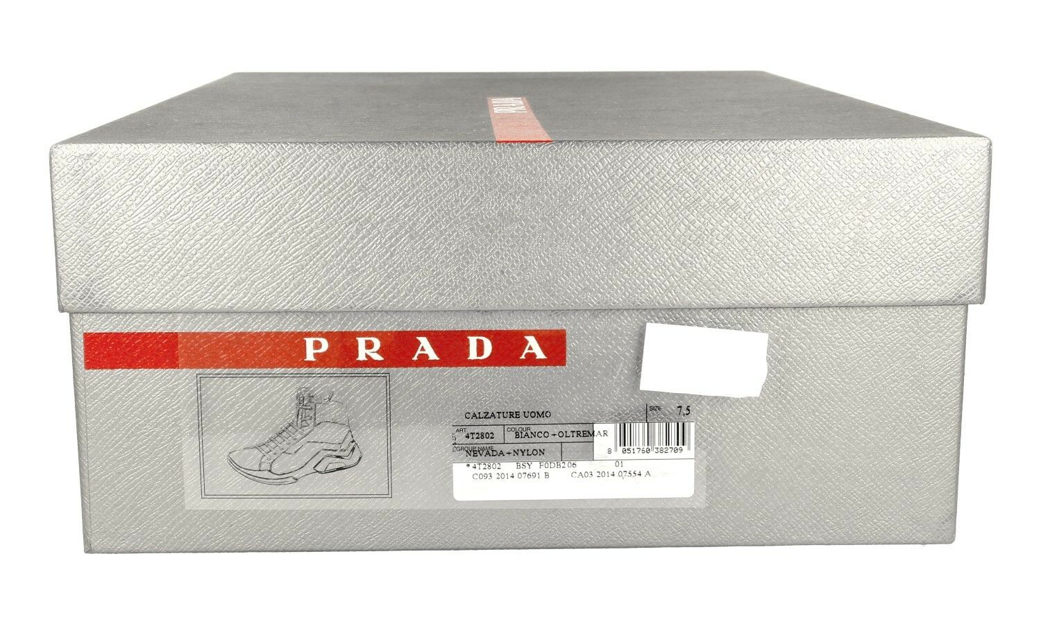 AUTHENTIC LUXURY PRADA SNEAKERS SHOES 4T2802 WHITE BLUE NEW NEW NEW US 11.5 EU 44,5 45 a50dc4