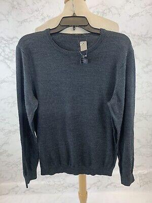 J Crew Mens Gray Slim Merino Wool Crewneck Sweater Size Medium | eBay