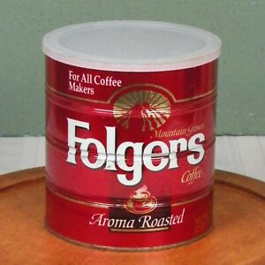 Vintage Folgers Coffee Can Lid The Big Lebowski For All Coffee Makers 39 Oz Tin