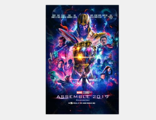 24x36 48x32 Poster Y-059 New Avengers 4 Movie 2019 The End Game Captain Marvel