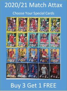 2020/21 Match Attax UEFA Cards - Special + Update Cards - Buy 3 Get 1 FREE