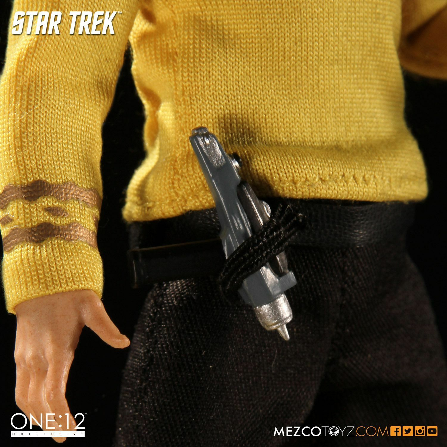 MEZCO giocattoli estrella TREK CAPTAIN CAPTAIN CAPTAIN KIRK ONE 12 Collection azione cifra 1 12 CAPITANO f1045c