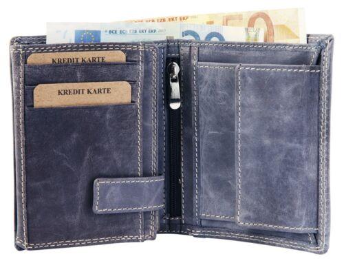 Accent Homme Porte-monnaie vraiment-Cuir 9 x 12 cm Bleu Porte-monnaie x3000071004
