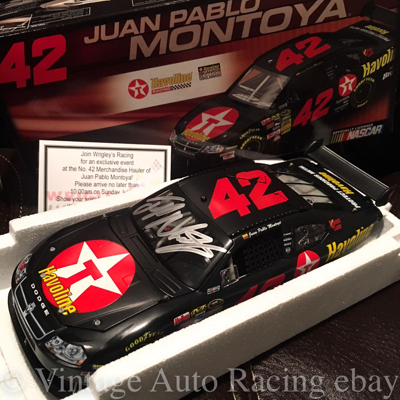 2008 Juan Pablo Montoya SIGNED Texaco Havoline 1 24 Action Diecast Dodge Charger