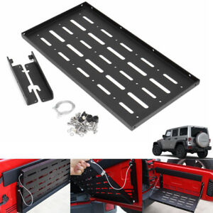 Black-Tailgate-Panel-Rear-Shelf-Storage-Set-For-Jeep-Wrangler-JK-2-4-Door