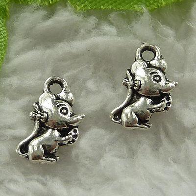 Free Ship 320 pieces tibetan silver football charms 15x11mm #103