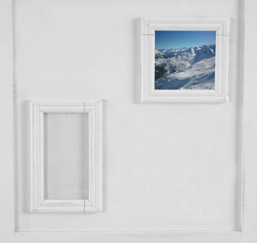 Biombo galería de imagen 170x161x2cm blanco marcos de cuadros separador de ambientes privacidad