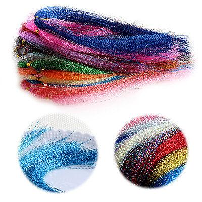 200pcs cristal Flash mouche liant matériel Krystal Fishing Lure