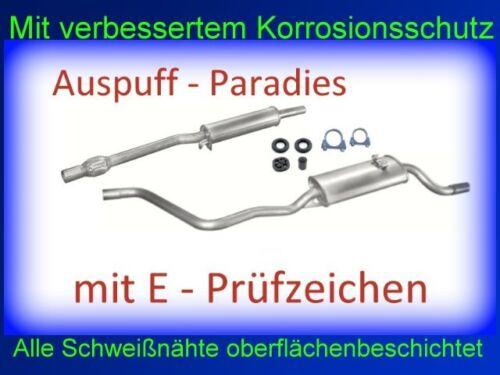 1.3 /& 1.4 D ab Baujahr 10//1990 Abgasanlage Auspuff VW Polo II 86C 1.0 Kit