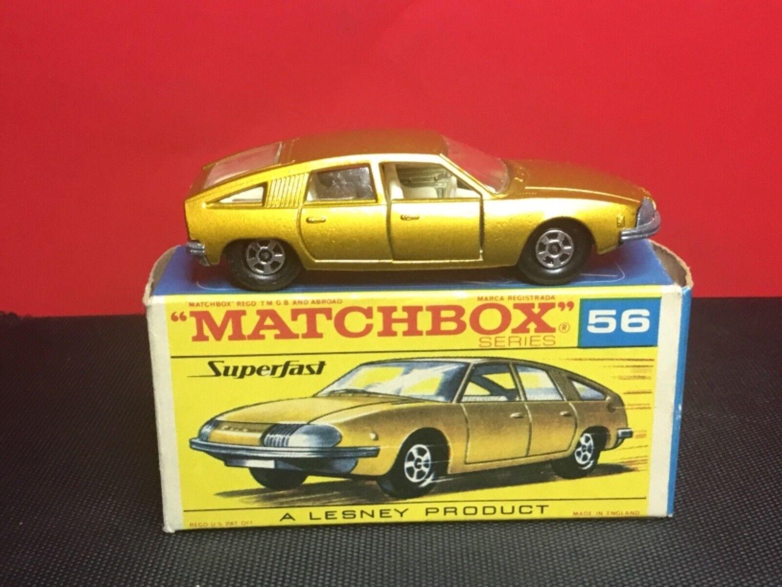 Lesney Matchbox Superfast raras 1969 1969 1969  56-A Bmc Pininfarina transición de menta en caja 2234a0