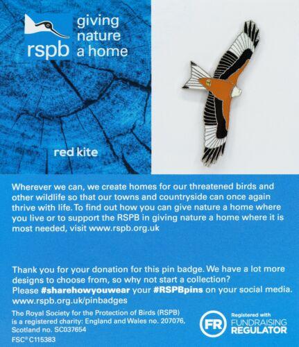 RSPB Pin Badgered kite GNAH BLUE 01540