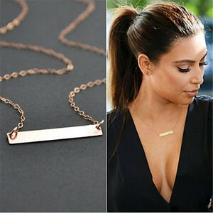 Fashion-Womens-Simple-Chain-Choker-Chunky-Statement-Bib-Pendant-Necklace-Jewerly