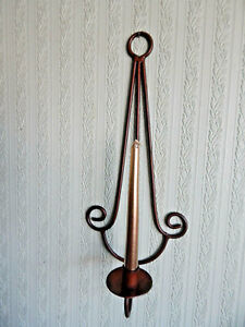 Wall Sconce Candle Holder Metal