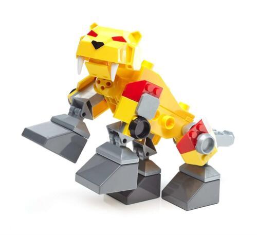 Power Rangers Mega Construx Sabretooth Zord Yellow Ranger