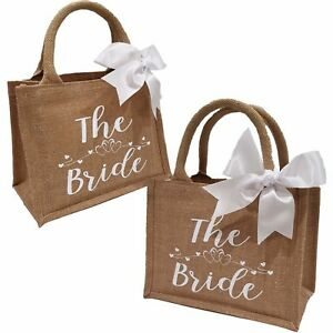 Bridesmaid Gifts Wedding Shimmer Jute