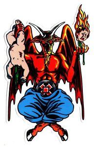 Cliche-X-101-Heritage-Skateboard-Sticker-Satan-Devil-Worship-sk8-skate-board