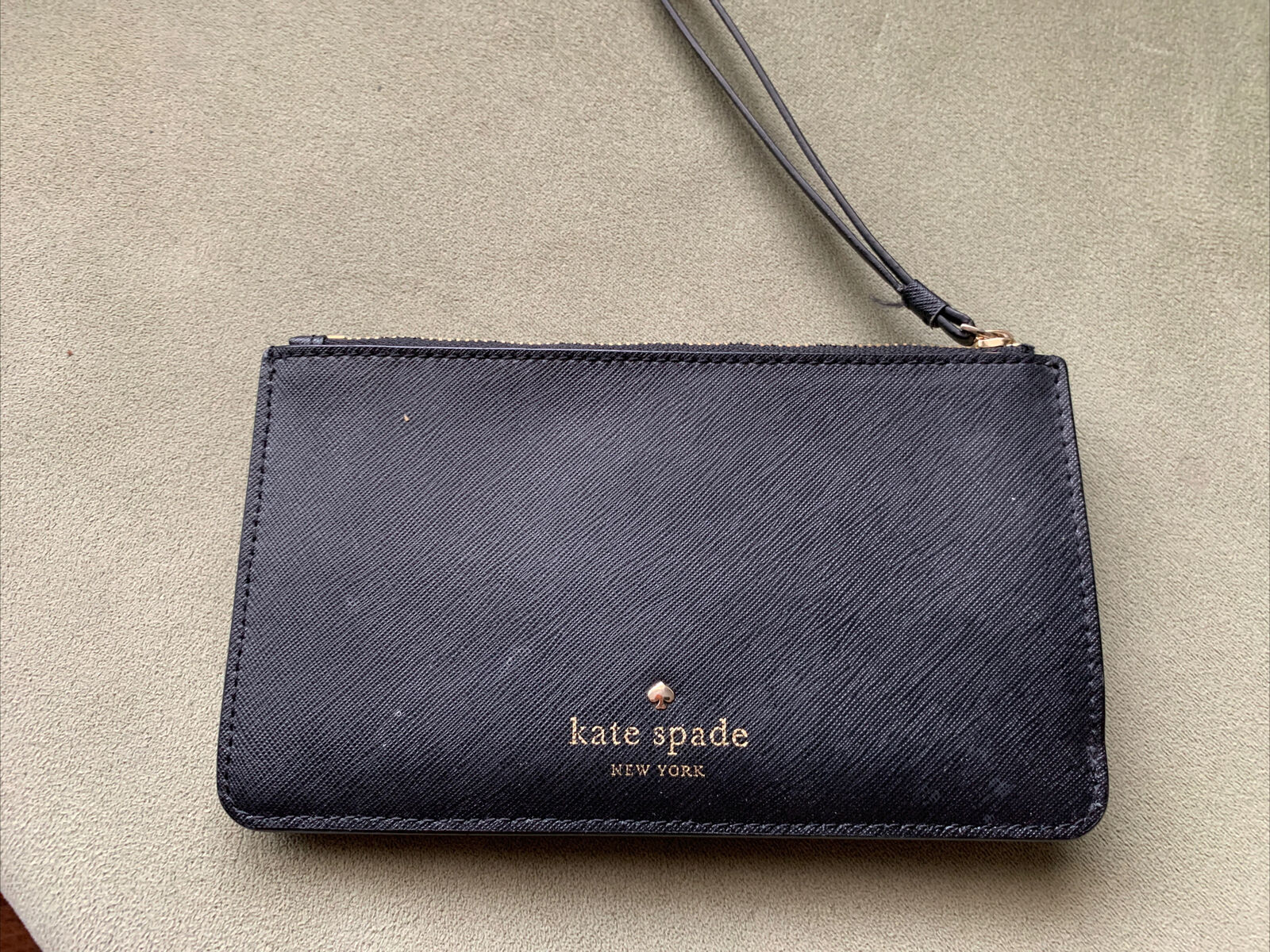 Kate Spade New York Black Wristlet Wallet With Card Slots