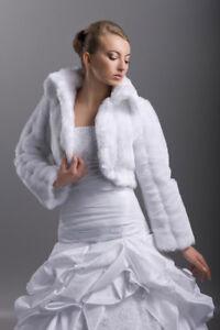 3d3d8435486601 Das Bild wird geladen Brautjacke-langarm-Braut-Bolero-Fell -Hochzeit-Winter-Brautbolero-